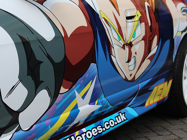 Drift Heroes wrap detail by Boss Dog