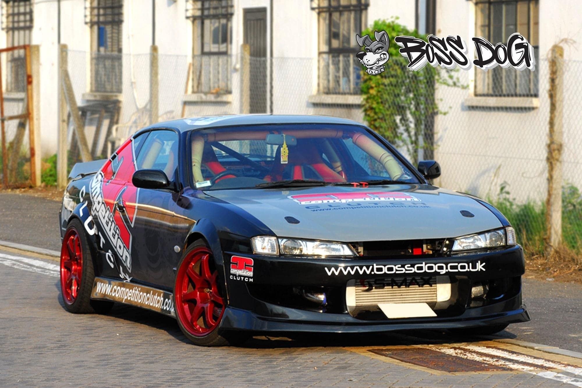 Nissan Skyline R32 drift car wrapped in printed graphics