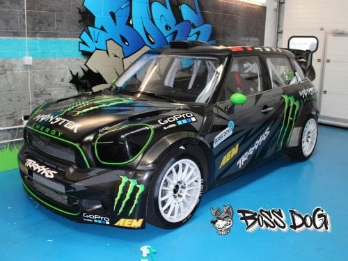 BMW mini cooper rally cross monster engery graphics