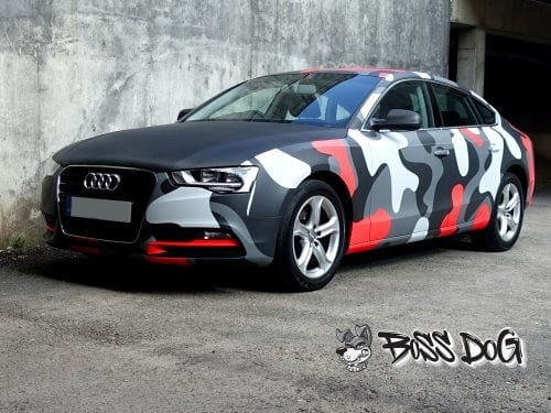 Audi A5 camouflage digital print full wrap