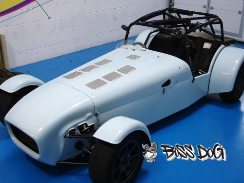 Caterham wrapped in gloss white