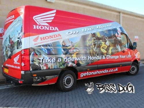 full van wrap digital print honda
