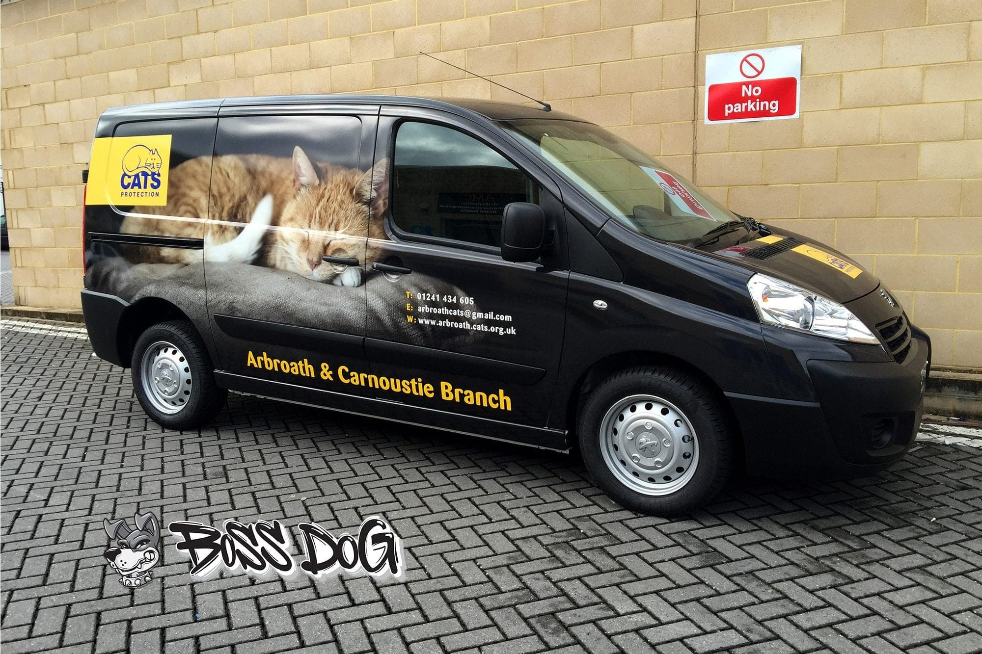 cats protection full van wrap digital print