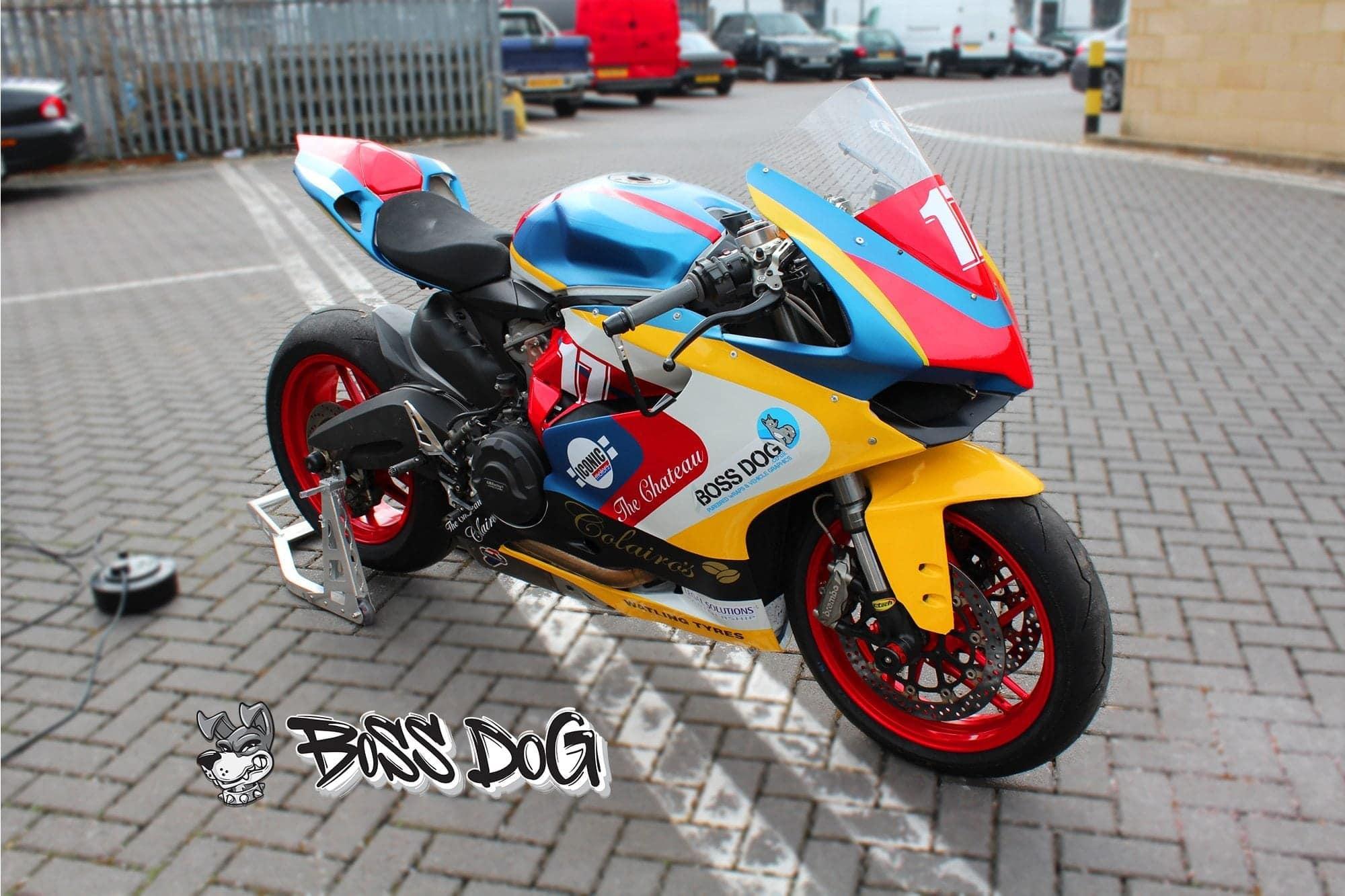 Ducati motorbike wrap for Carl Stevens