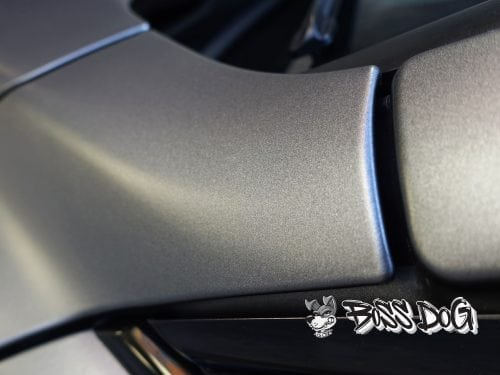 BMW 3 Series wrapped in exclusive Matt Metallic Charcoal Bruxsafol