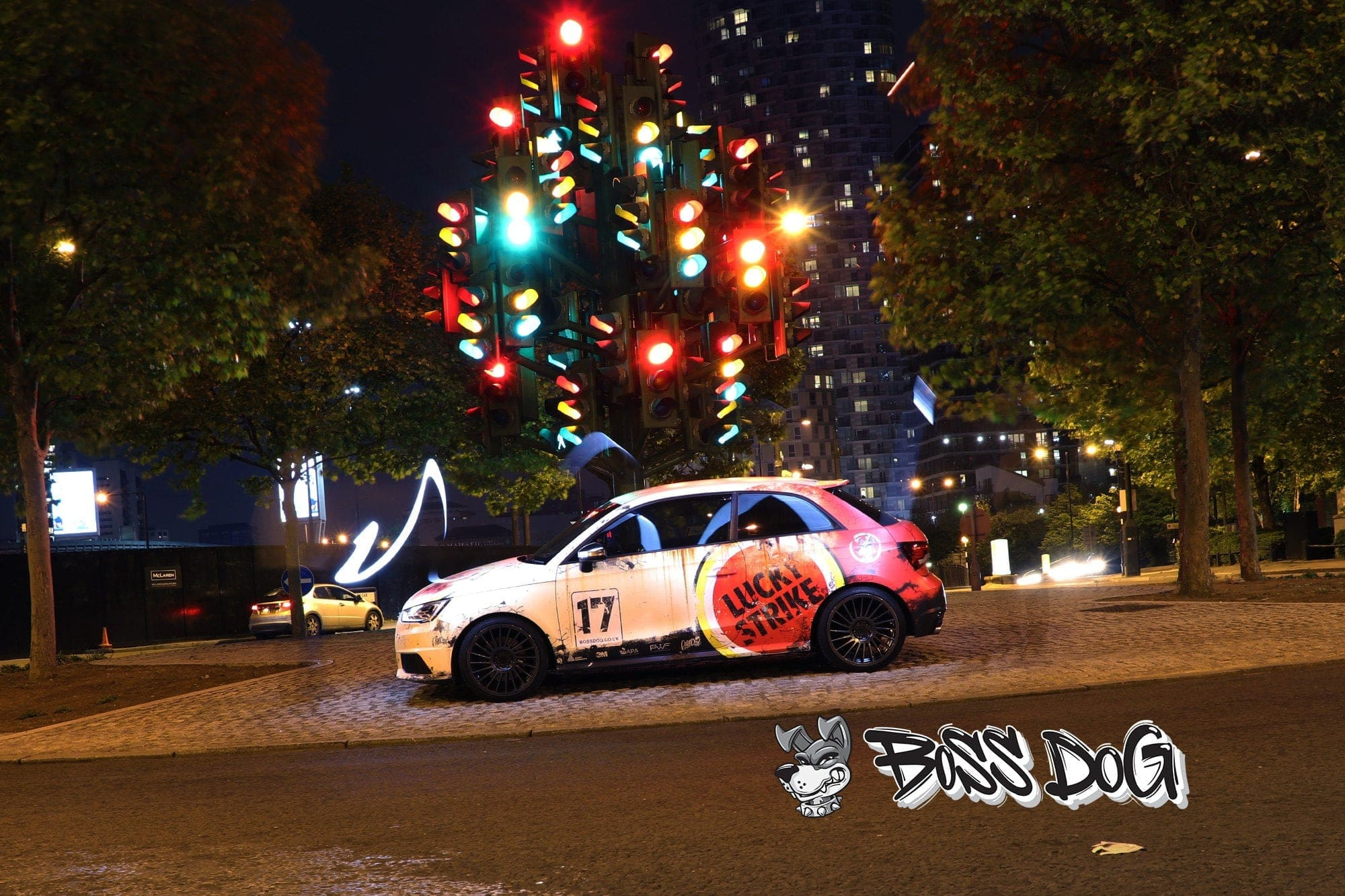 Audi S1 full wrap digital print rusty racing livery