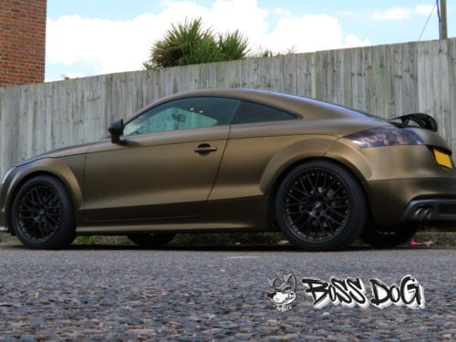 Audi TT full wrap bruxafol bond gold