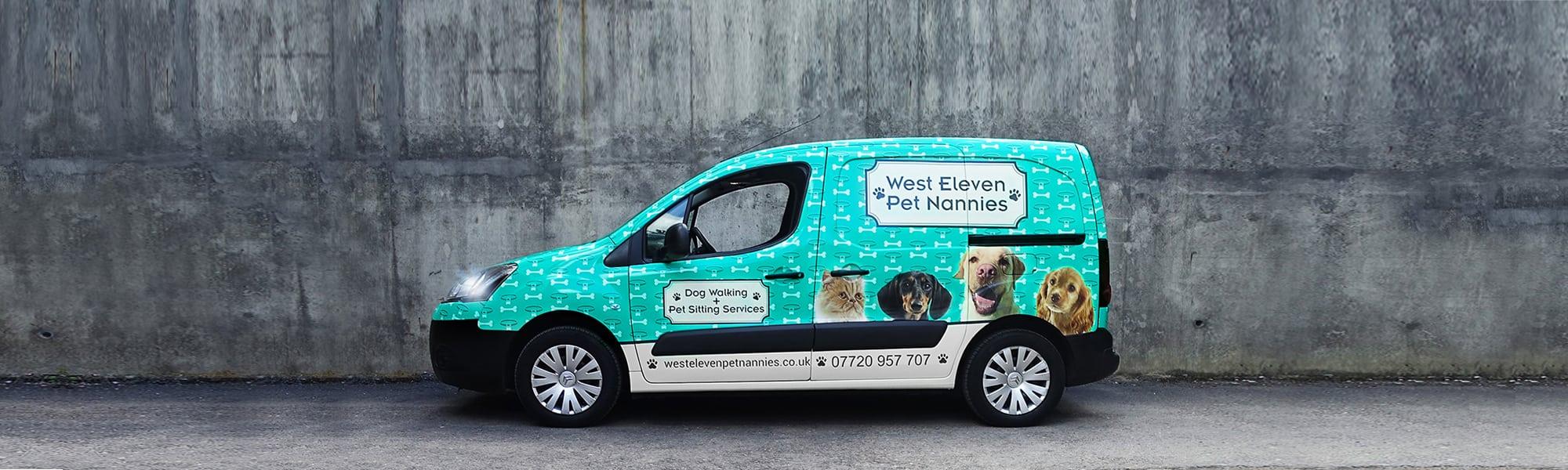 Van Amp Commercial Vinyl Wrapping In Surrey Boss Dog