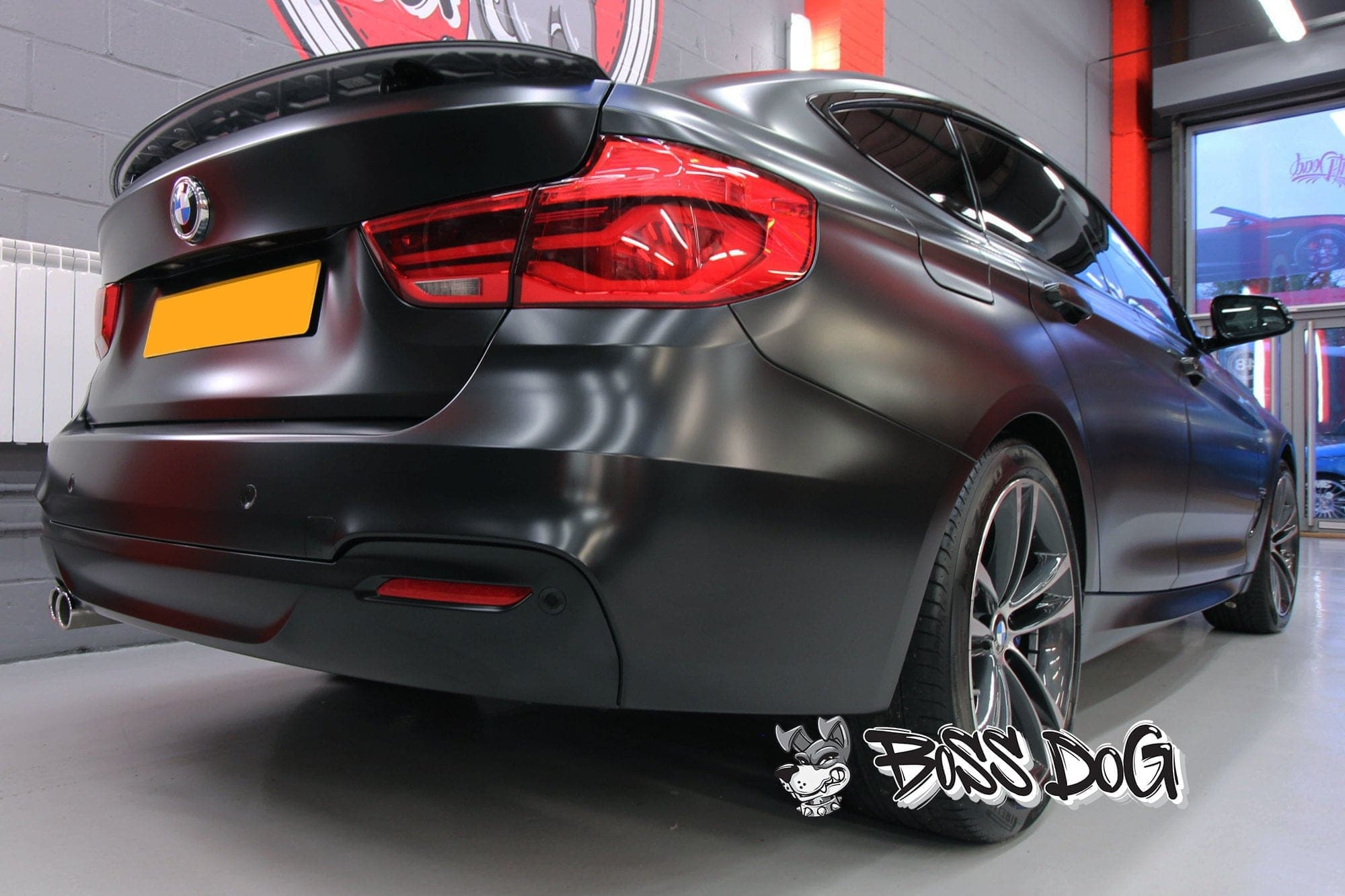 BMW full car wrap satin black