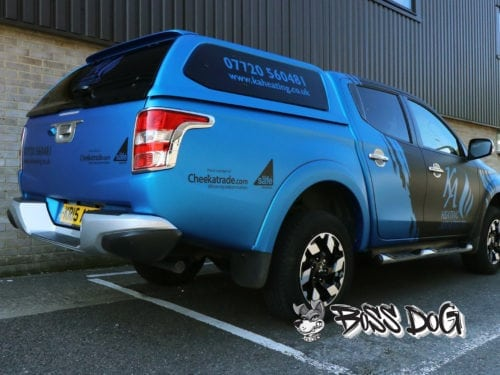 Mitsubishi Barbarian flull wrap matt black and matt metallic blue
