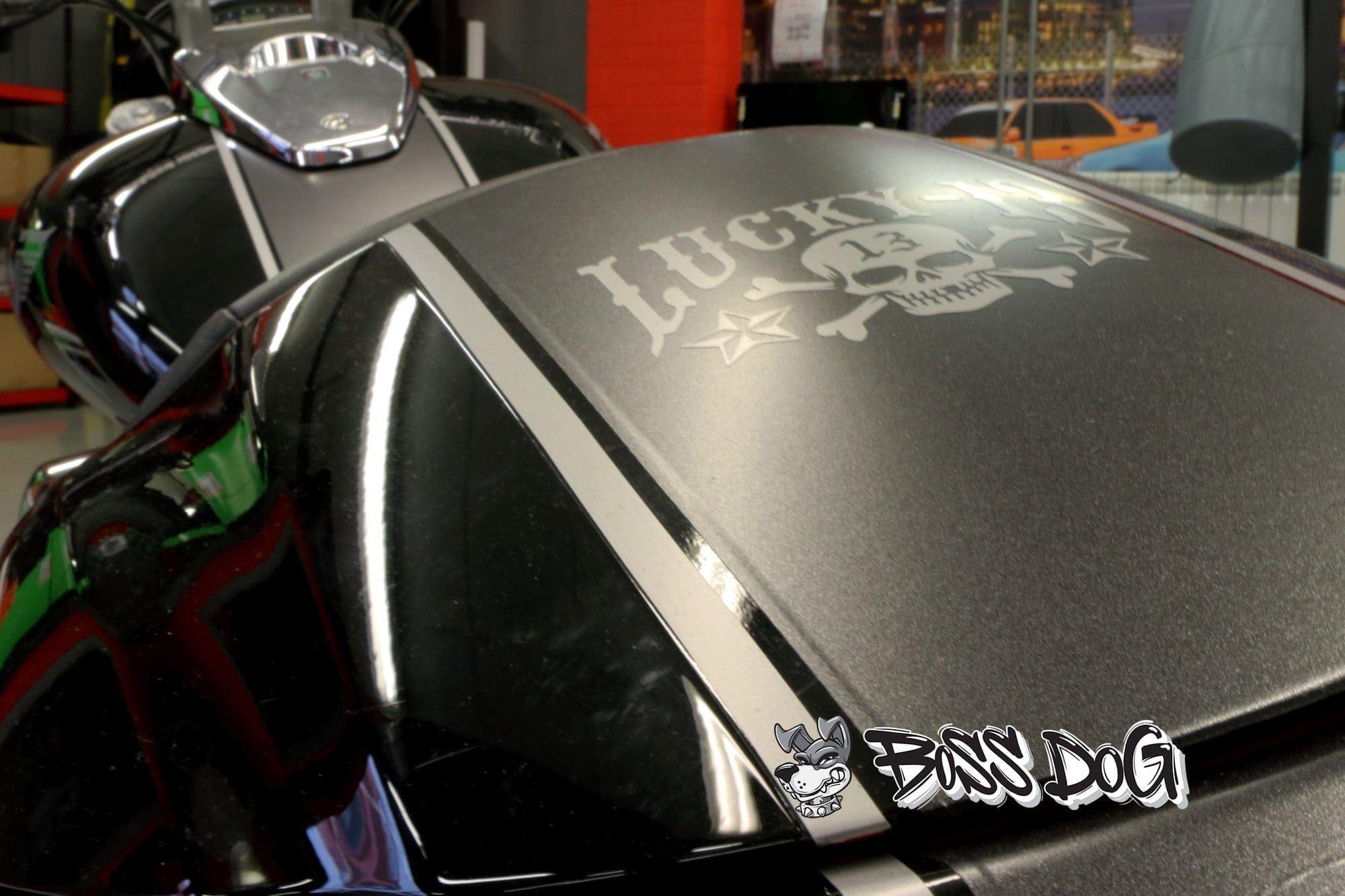 Motorbike full wrap matt metallic grey