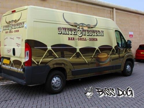 Smith and western full digital printed van wrap