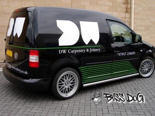 full van wrap gloss black