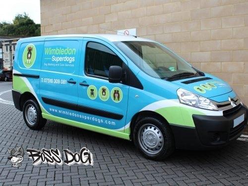 Wimbeldon Superdogs full van wrap digital print
