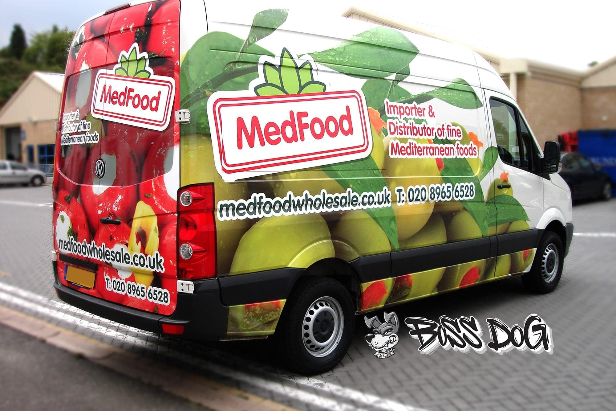 VW Crafter Commercial full wrap digital print for medfood