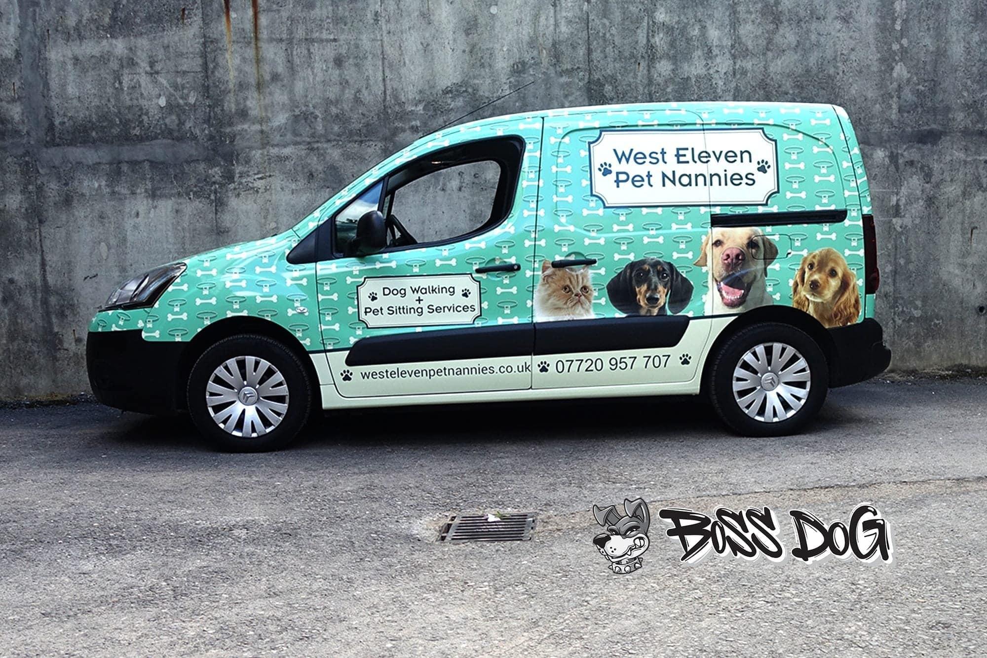 Citreon Berlingo commercial full wrap digital print for West Eleven Pet Nannies