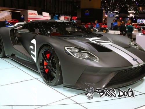 Ford Gt wrapped matt black for Geneva motorshow