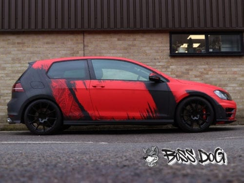 revo golf r digital printed car wrap