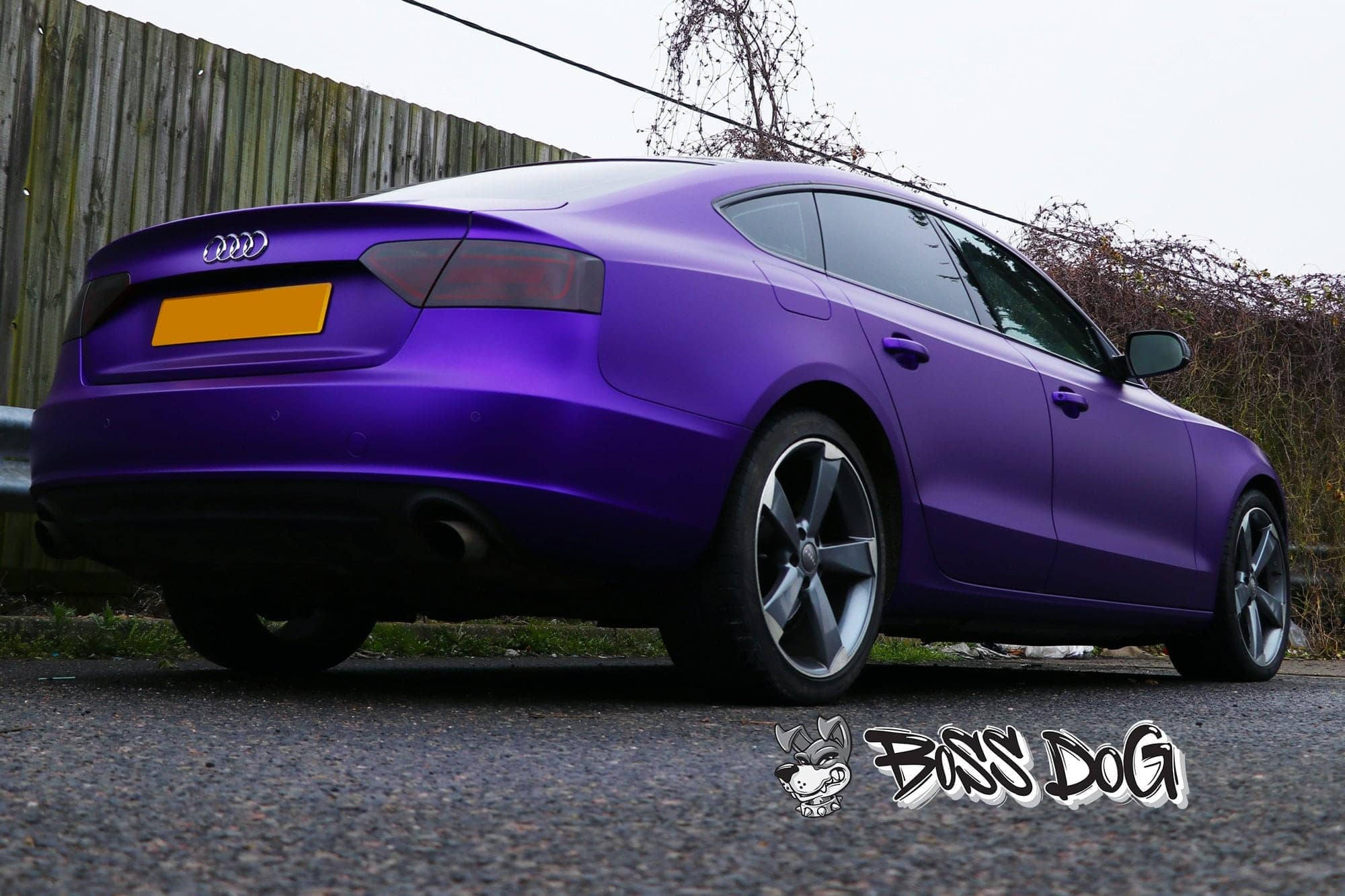 Audi A5 Satin Metallic Purple