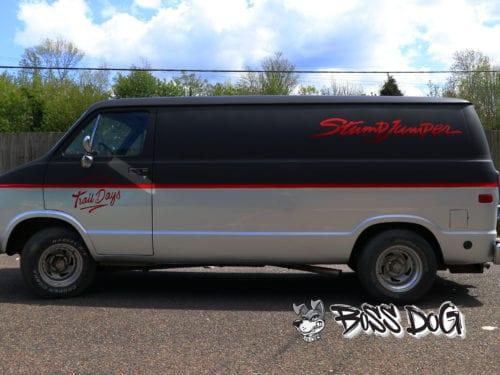 specialized dodge ram full wrap matt black and gloss silver