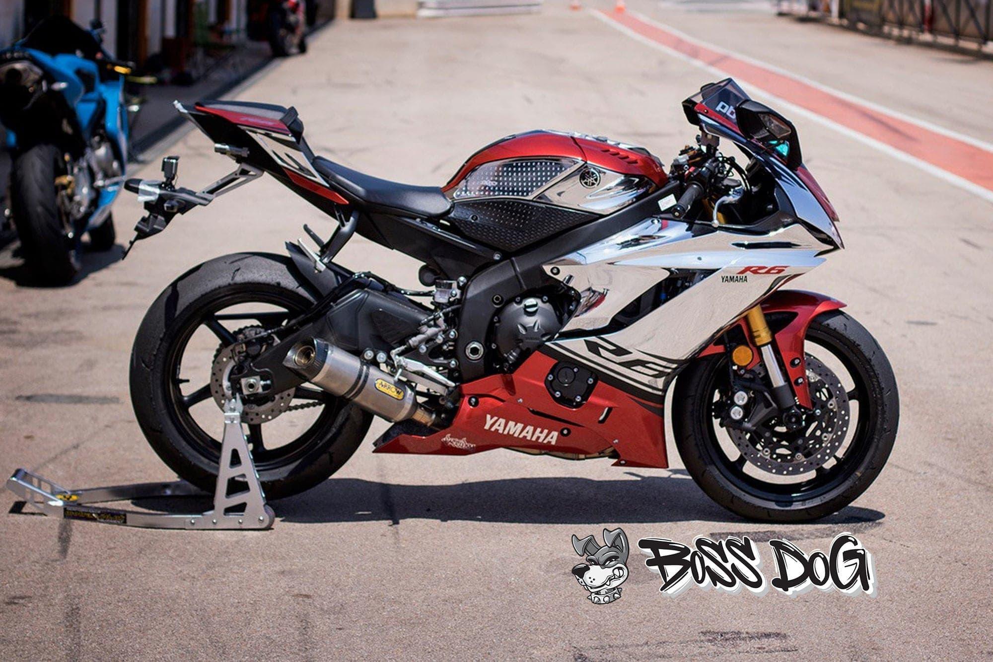 yamaha R1 chrome bike wrap