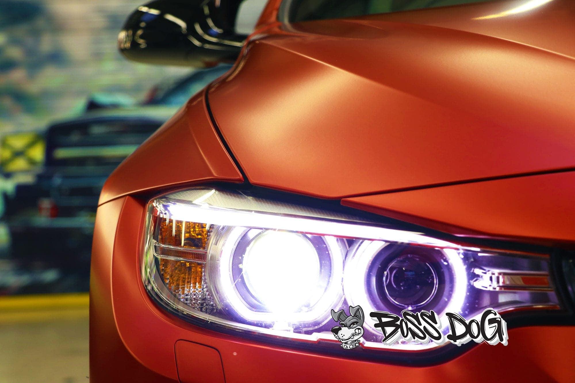 BMW M4 Matte Iced Red Metallic Full Wrap